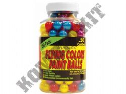 Splatmatic Flying Colour Paintballs 200 x .50 Calibre in Tub